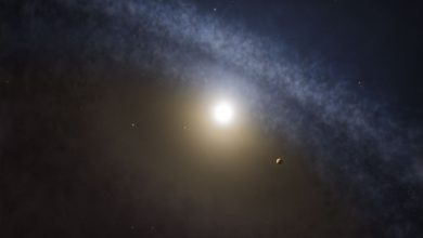 Photo of Exoplanet orbiting three stars discovered in a first